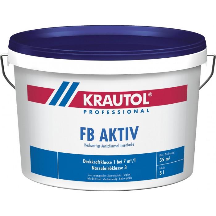 KRAUTOL FB AKTIV weiß - Hochwertige Antischimmel Innenfarbe 5L