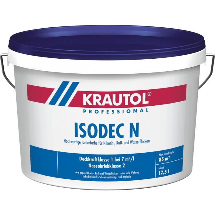 KRAUTOL ISODEC N weiß - Isolierfarbe bei Nikotin-, Ruß- und Wasserflecken