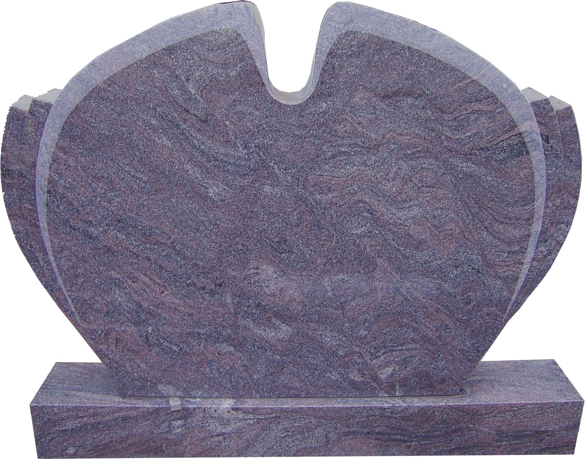 Grabanlage aus Granit Paradiso poliert Gedenkstein