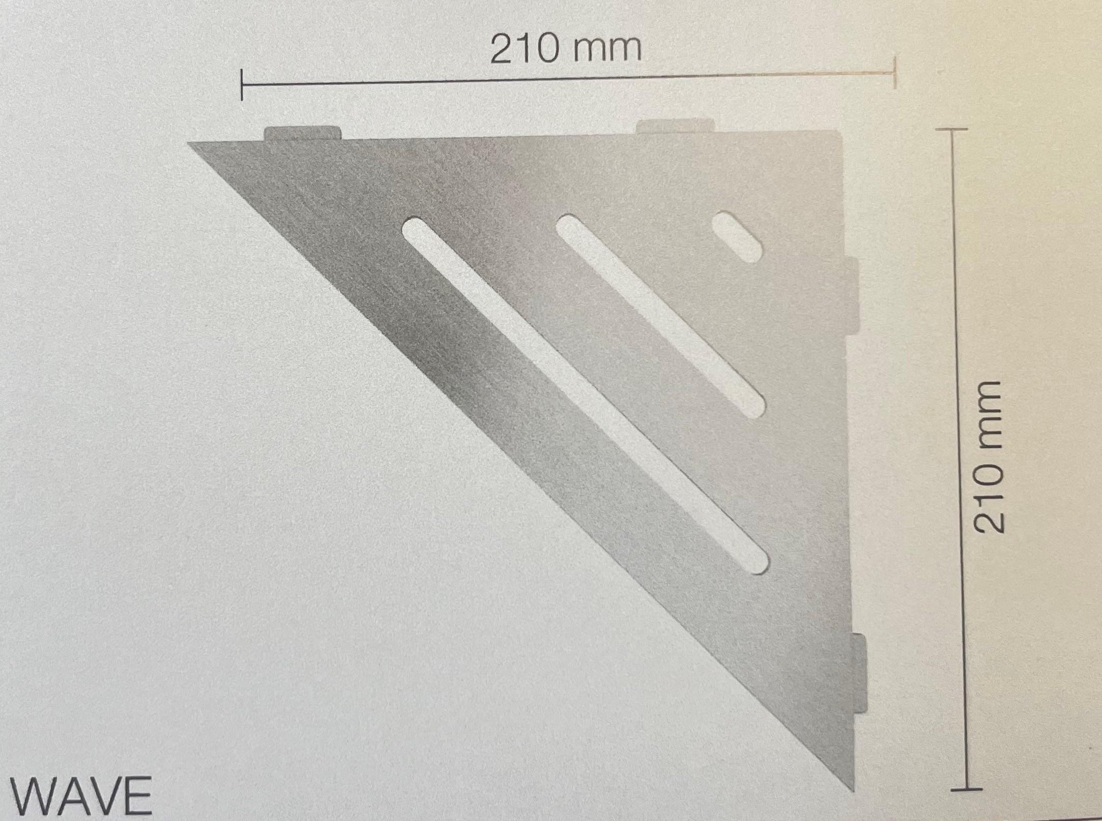 Schlüter SHELF-E-S1 dreieckige Ablage Edelstahl