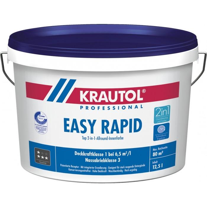 KRAUTOL EASY RAPID weiß - 2-in1-Allround-Innenfarbe mit integrierter Grundierung