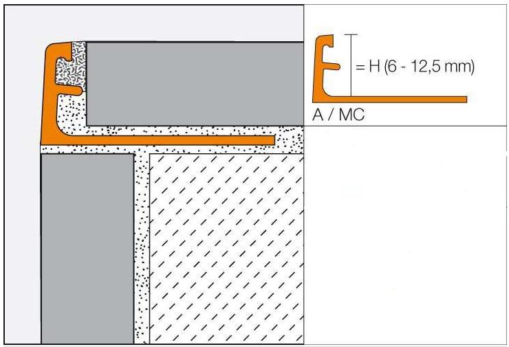Schlüter JOLLY-TS - dekoratives Profil aus Aluminium