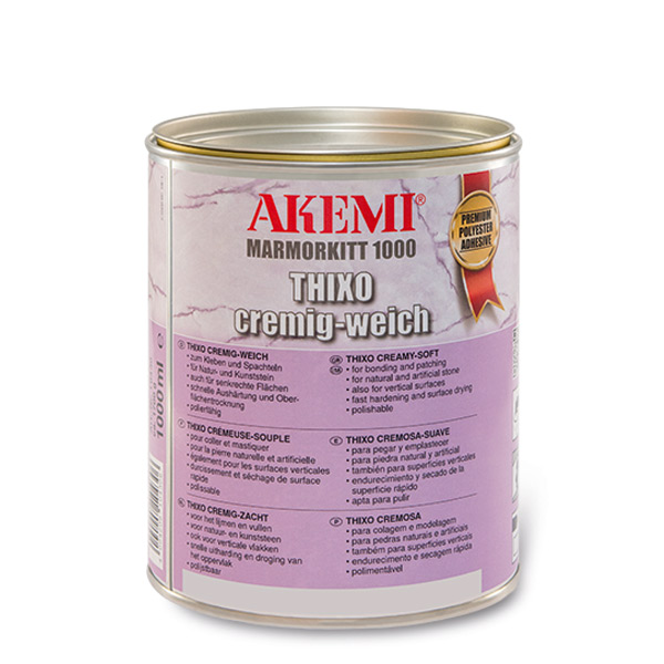 Akemi Marmorkitt 1000 Thixo mit Steinstruktur Impala - dunkelgrau 1000ml 10430/10431/10432