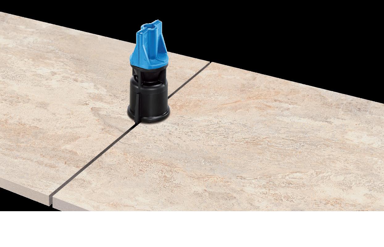 IndorTec® Fliesen-Nivelliersystem Zughauben 2-teilig schwarz/blau 100 Stück