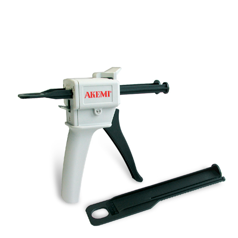 Akemi Kunststoffpistole manuell inkl. Stössel für 50ml Kartuschen 1:1/2:1 10639
