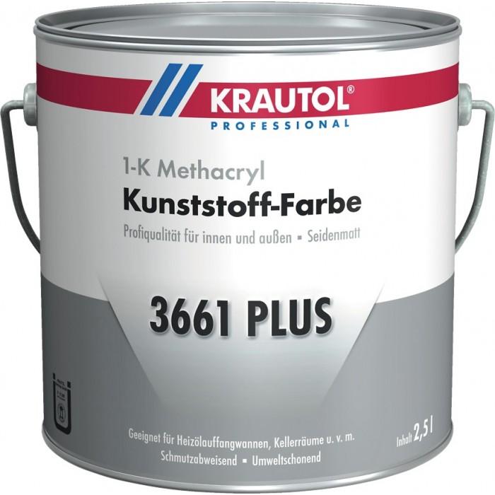 KRAUTOL 3661 PLUS hellgrau - 1-K Kunststoff-Farbe