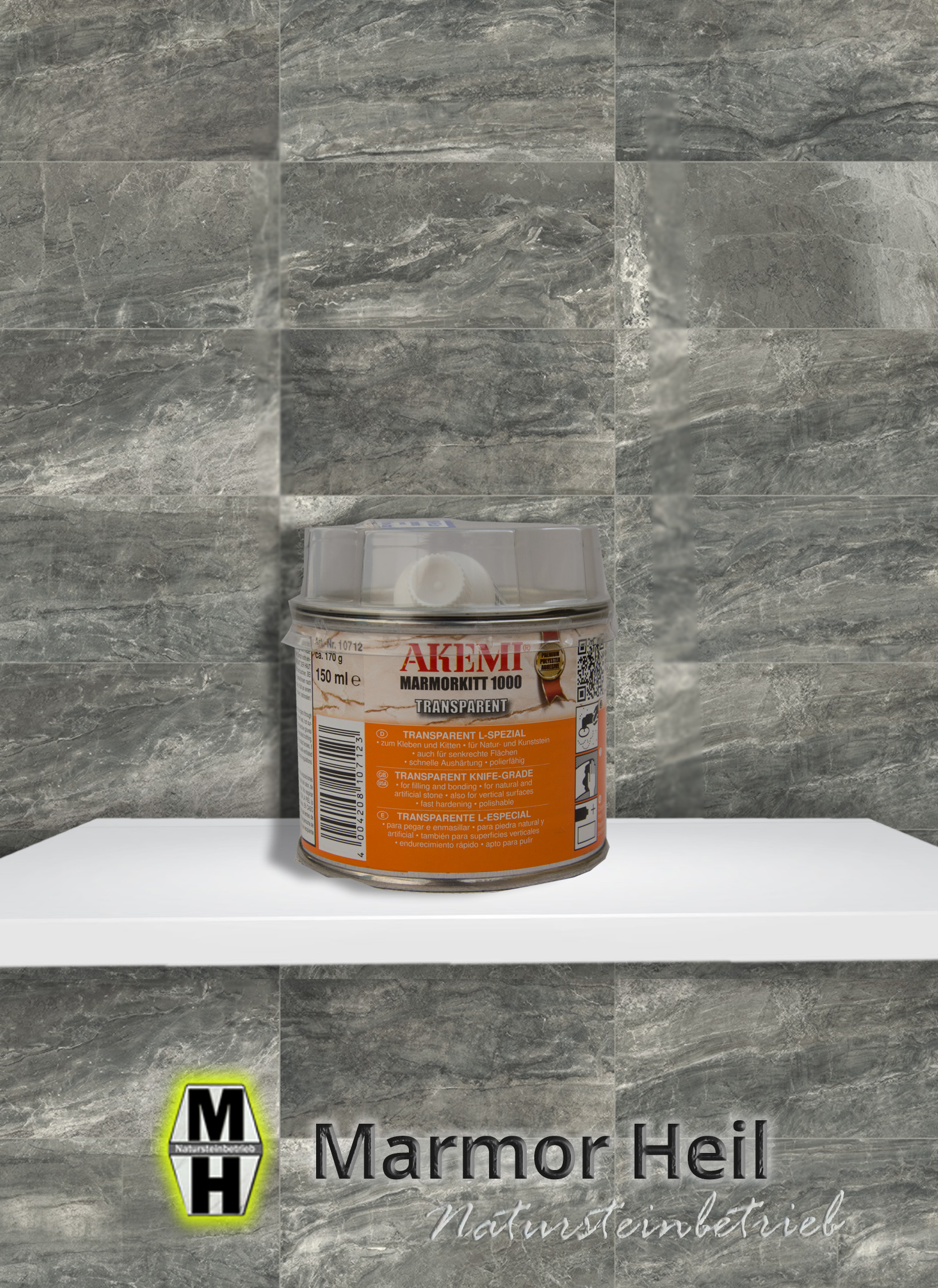 Akemi Marmorkitt 1000 Transparent L-Spezial 10712/10710