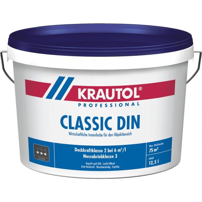 KRAUTOL CLASSIC DIN weiß 5 Liter - Wirtschaftliche Innenfarbe für den Objektbereich