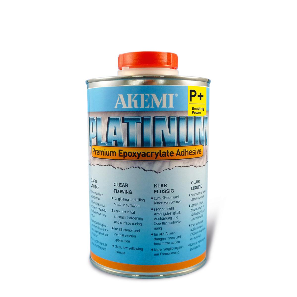 Akemi PLATINUM P+ flüssig 900ml flüssiger, transparent-klarer Kleber 10726