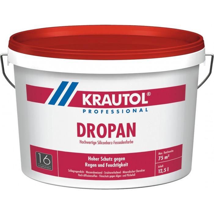 KRAUTOL DROPAN - Hochwertige Siliconharz-Fassadenfarbe weiß