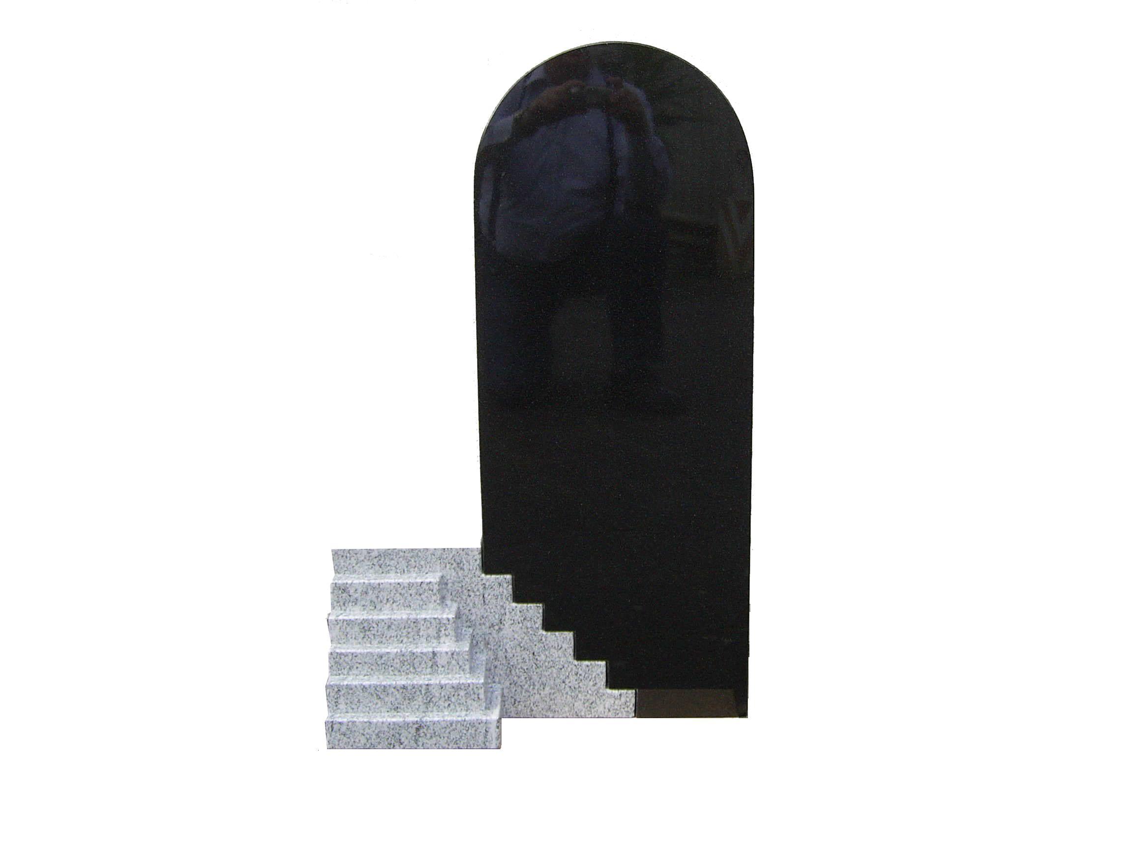 Grabanlage aus Granit Indian Black/Viscont White poliert